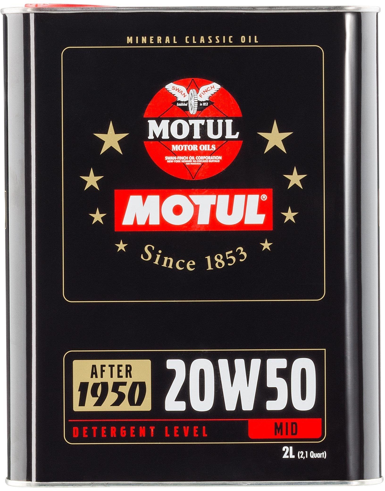 Moottoriöljy MOTUL CLASSIC OIL SAE 20W50