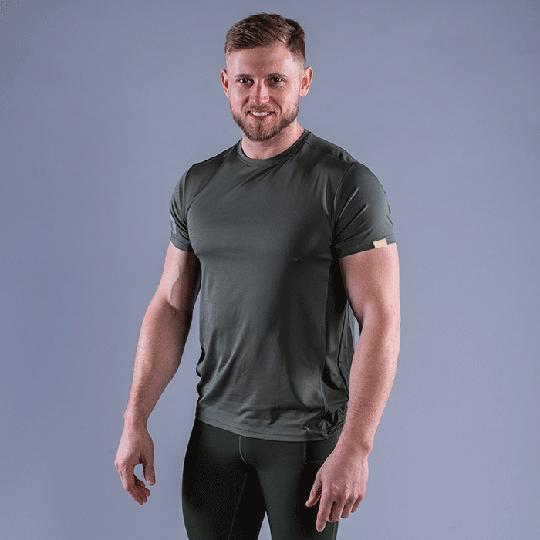 CLN Mist T-shirt, Moss Green