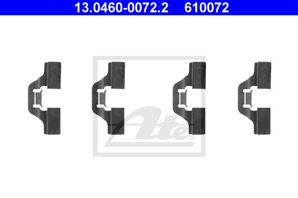 Tarvikesarja, jarrupala ATE 13.0460-0072.2