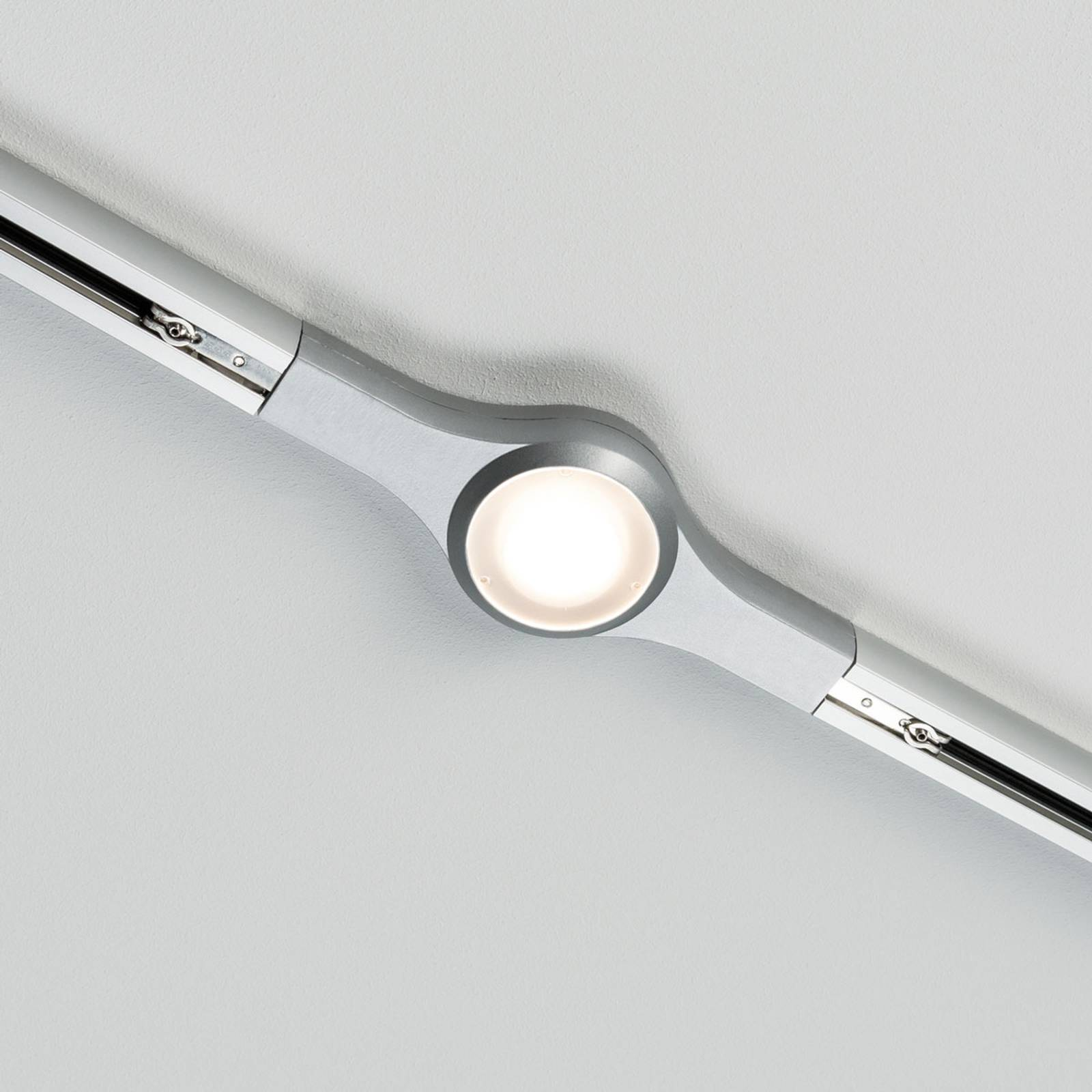 Paulmann URail LED Line Connector, mattakromi