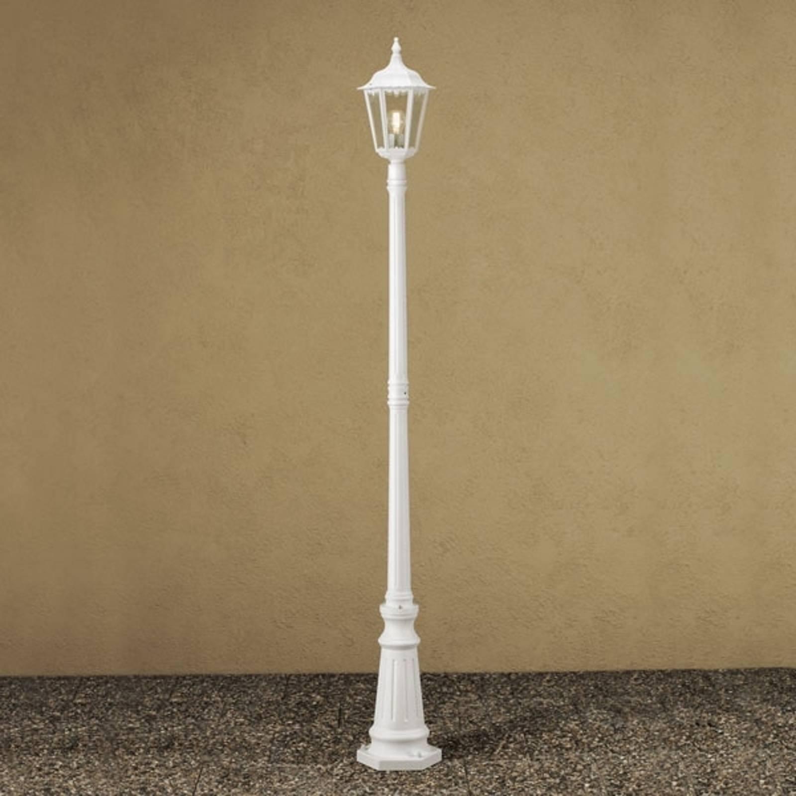Firenze-lyhtypylväs, 1-lamppuinen, valkoinen