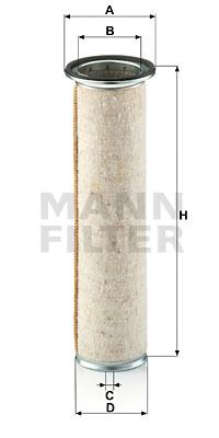 Toisioilmasuodatin MANN-FILTER CF 930
