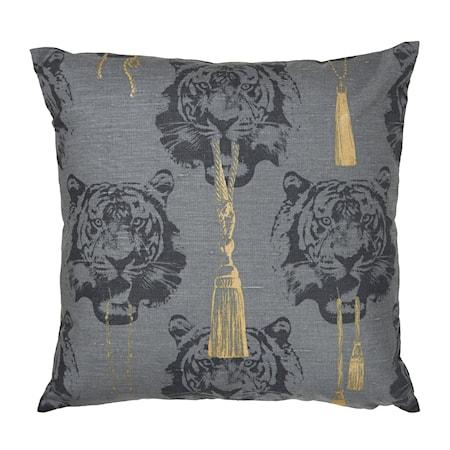 Kuddfodral Coco Tiger grey 60x60 cm