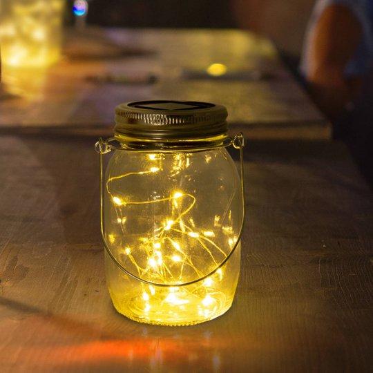 LED-solcelle-bordlampe Outdoor, 3-er-sett