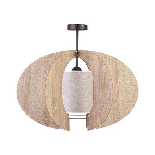 Taklampe Modern C M med trelameller Ø 50 cm