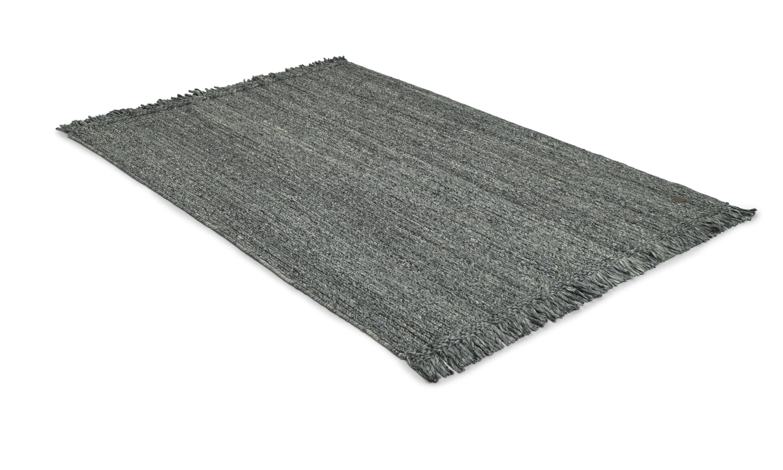 Jaipur grå - håndvevd ullteppe