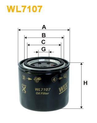 Öljynsuodatin WIX FILTERS WL7107