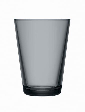 Kartio Glass 40 cl Mørkegrå 2 stk.