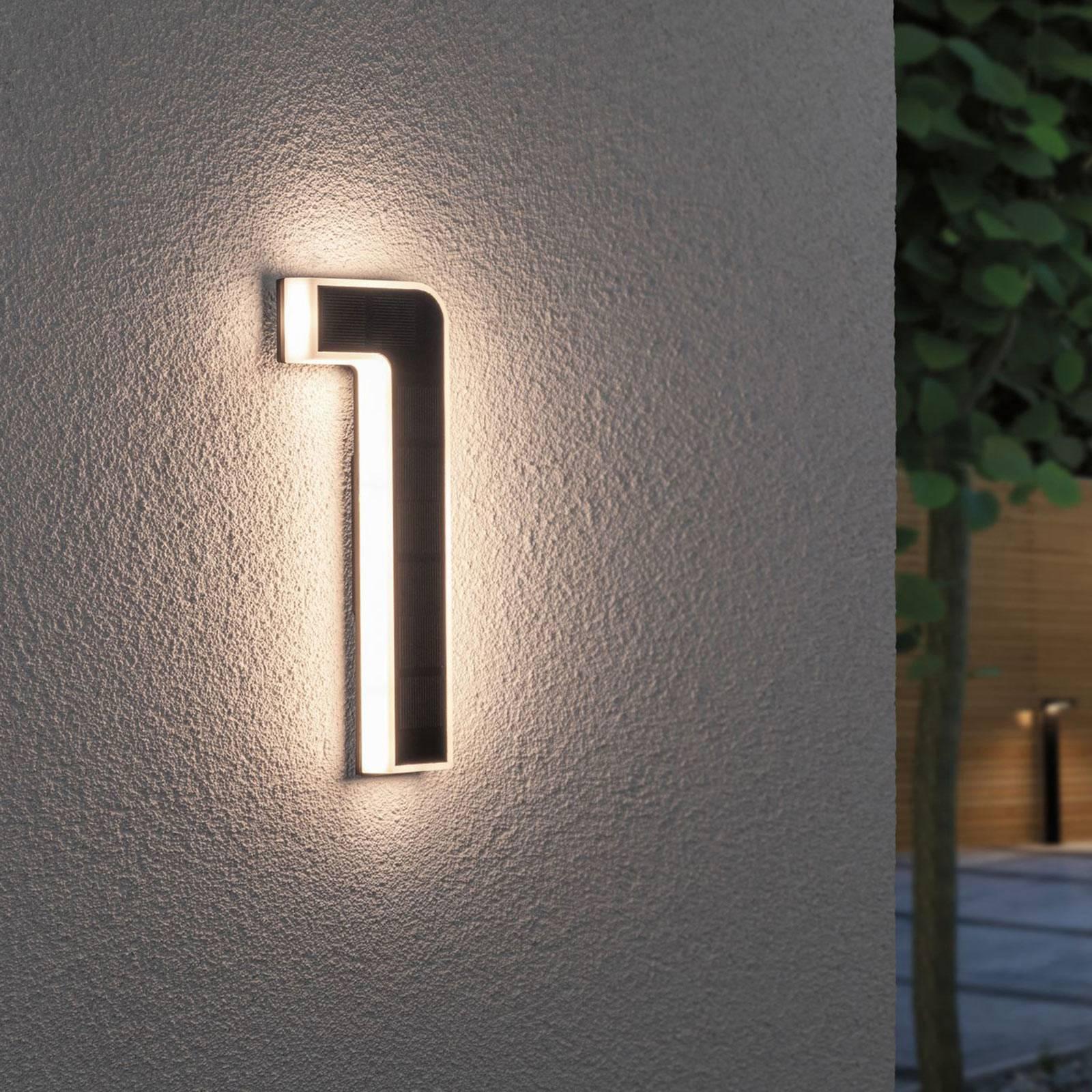 Paulmann aurinkokäyttöinen LED-talonnumero 1