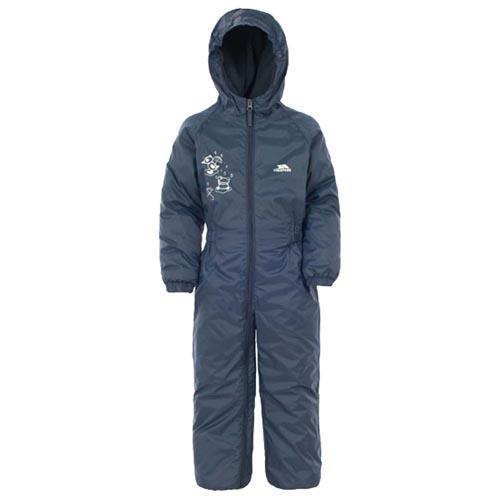 Trespass Kid's Padded Waterproof All-In-One Suit Various Colours Dripdrop - Navy 18 to 24 Months