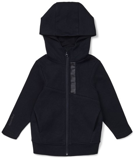 Hyperfied Mesh Zipped Hoodie, Anthracite 98-104