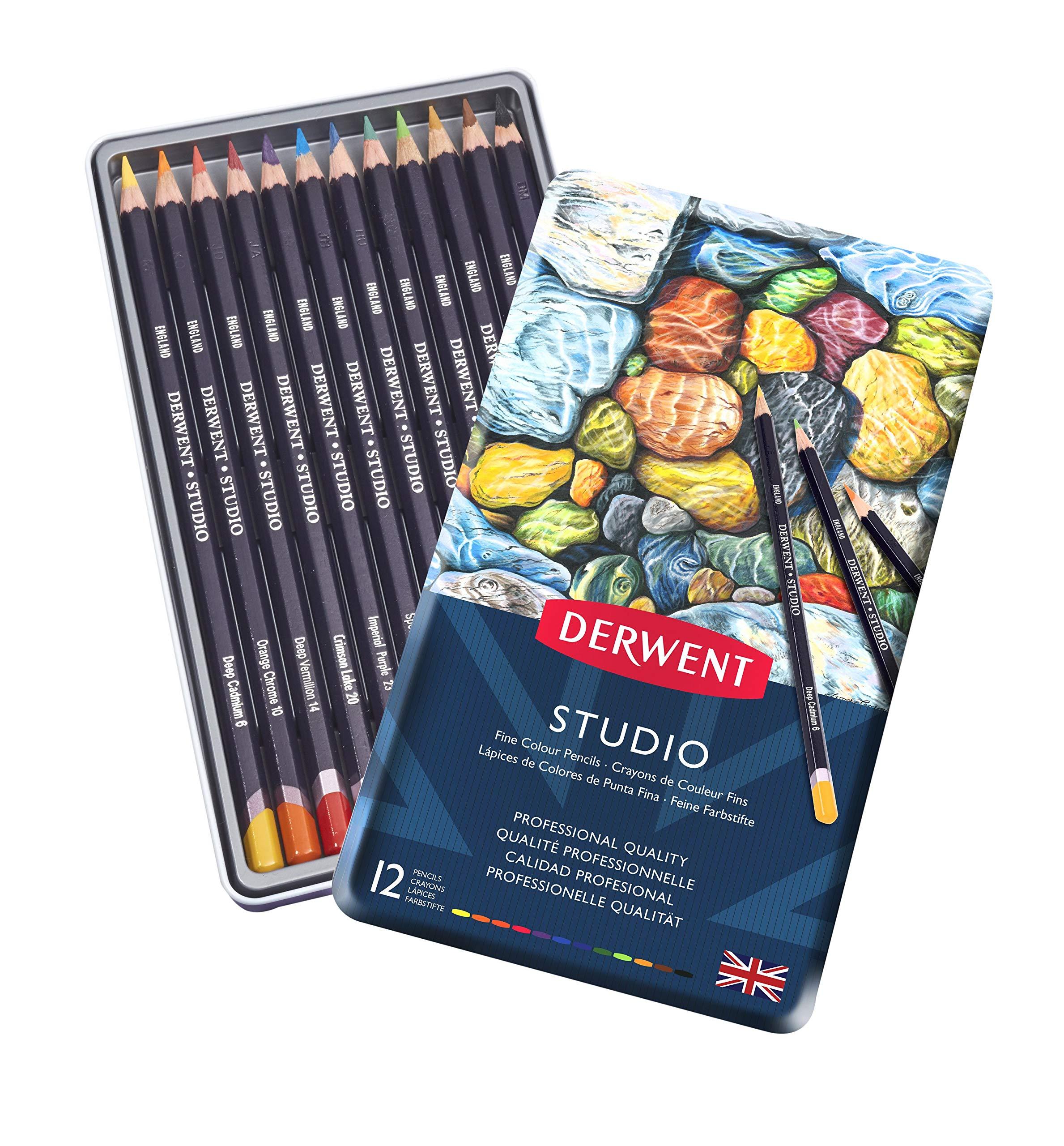 Derwent - Studio Pencils, 12 Tin