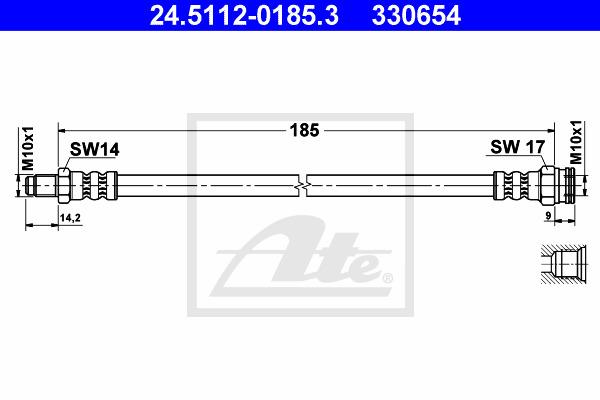 Jarruletku ATE 24.5112-0185.3