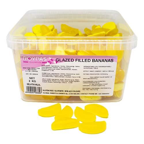 Glasyrfyllda Bananer Lösvikt i Burk - 2 kg