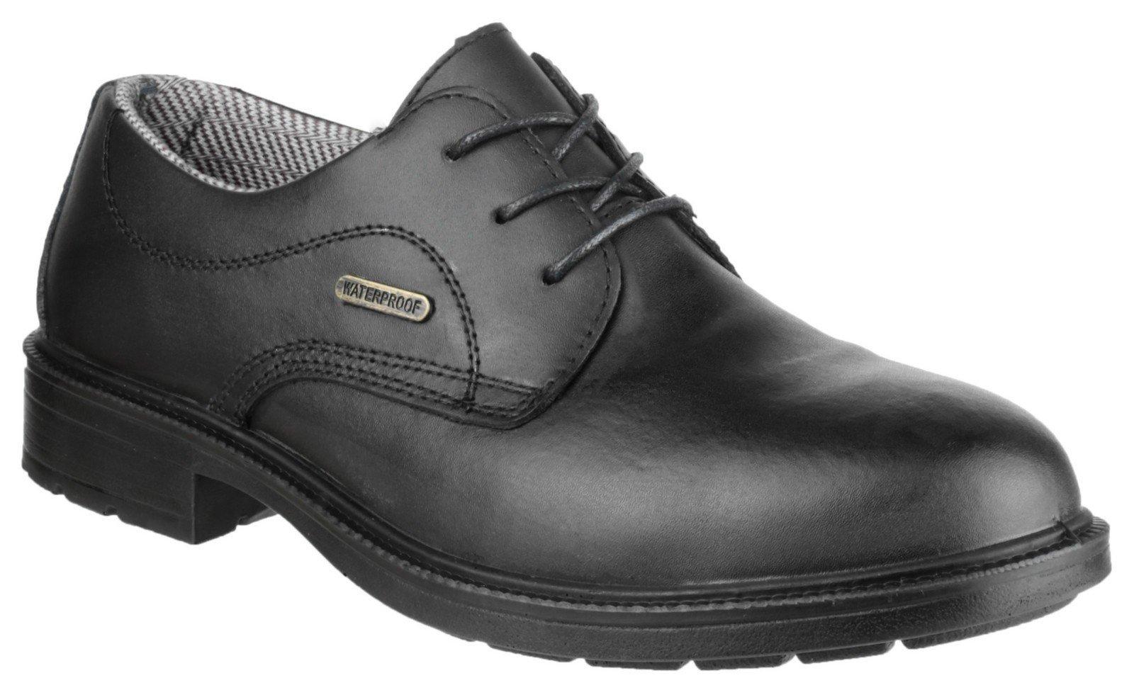 Amblers Unisex Safety Waterproof Lace up Gibson Shoe Black 21518 - Black 6