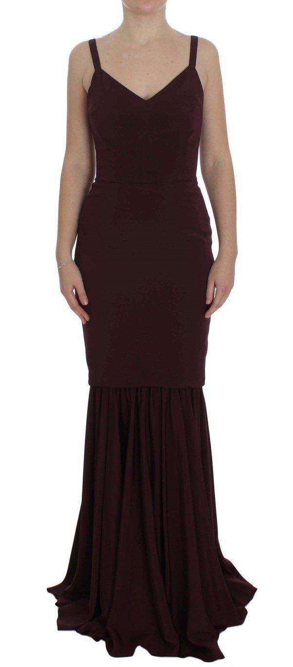 Dolce & Gabbana Women's Stretch Sheath Dress Bordeaux NOC10163 - IT40|S