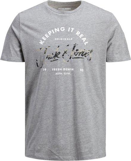 Jack & Jones Camoclub T-Shirt, Light Grey Melange 176