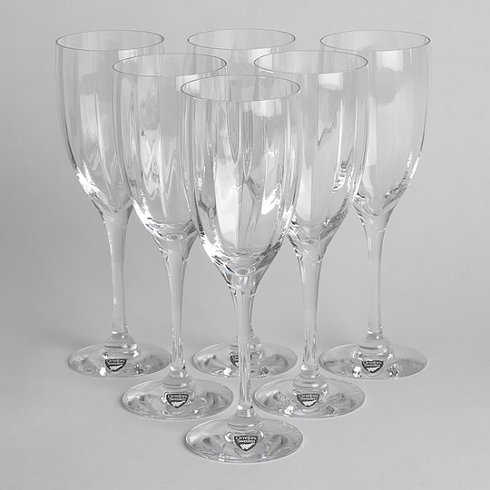 Orrefors - SÅLD Vitvinsglas 6 st