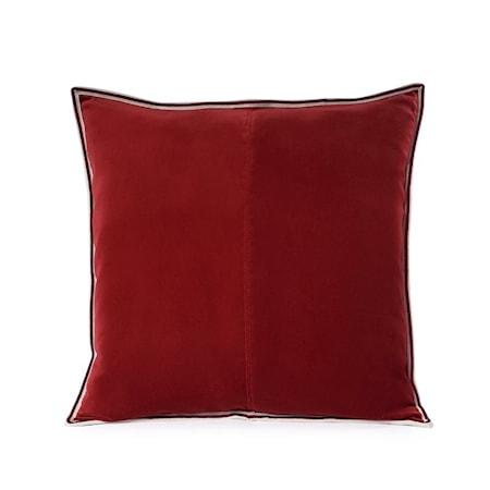 Kuddfodral New Red Striped Edge Velvet 50x50 cm