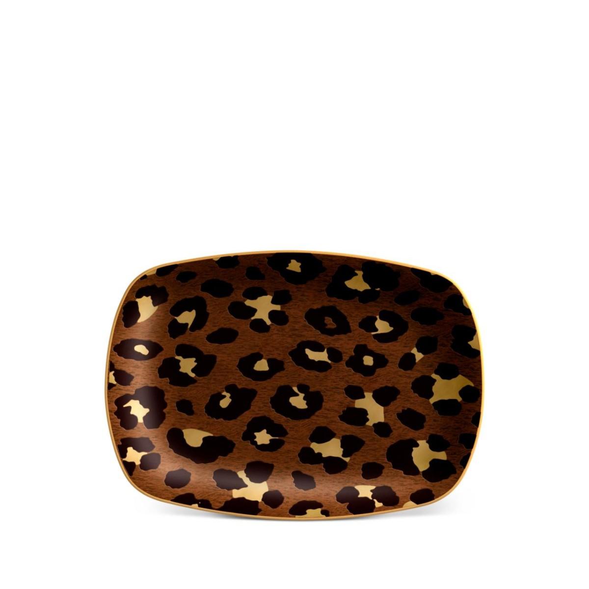 L'Objet I Leopard Rectangular Tray - Small