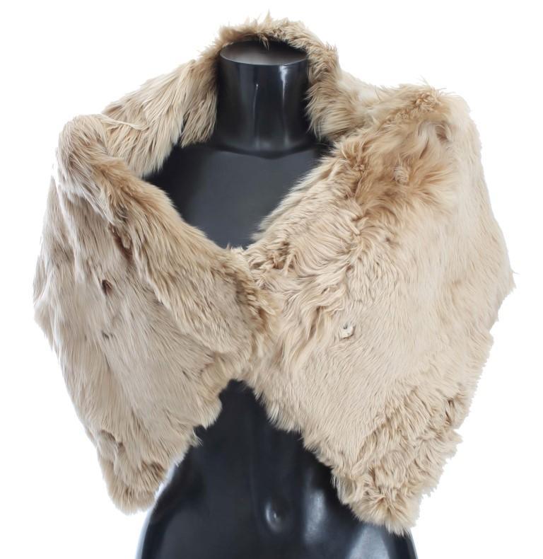 Dolce & Gabbana Women's Alpaca Collar Scarf Beige MS810 - IT40 | XS