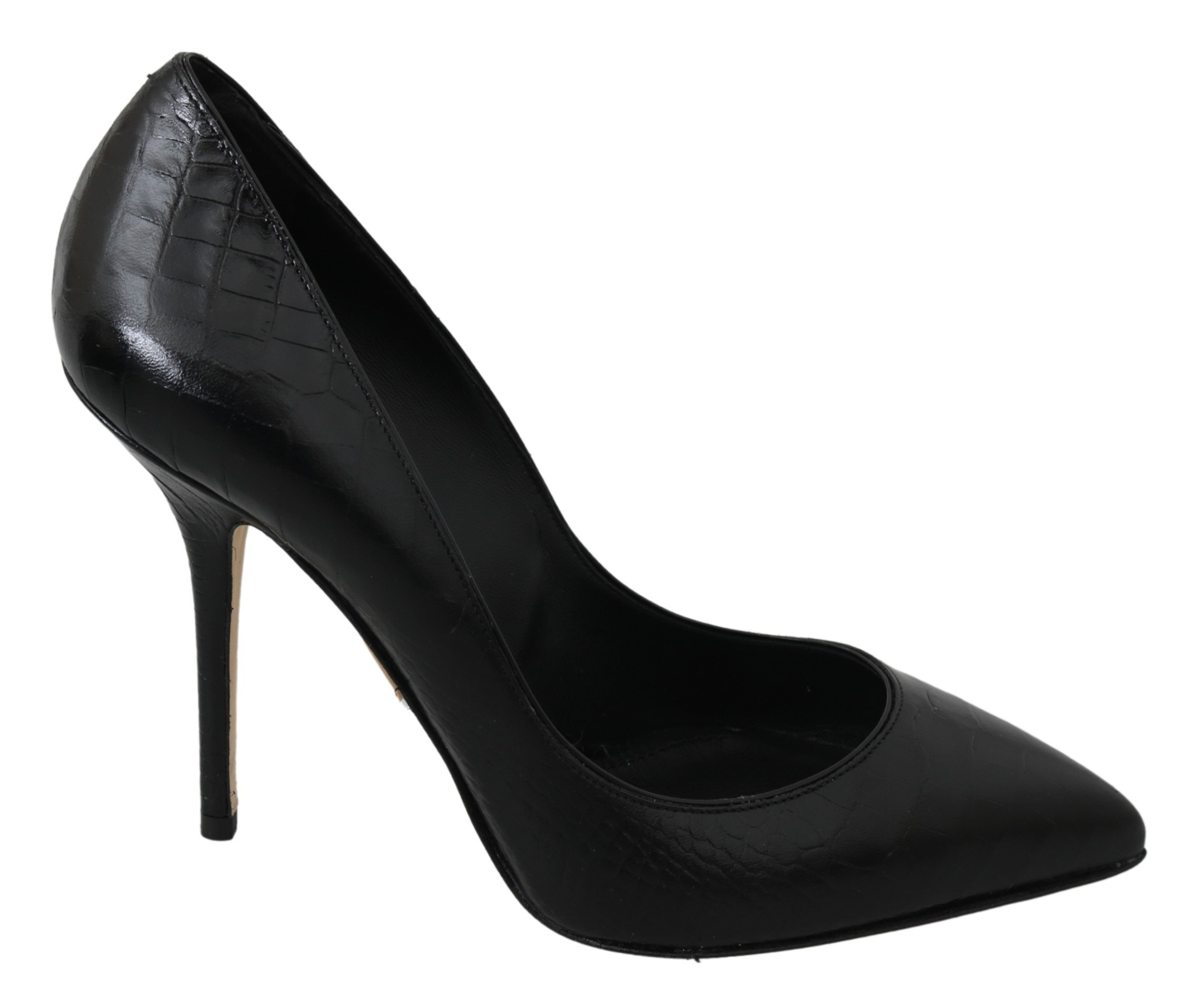 Dolce & Gabbana Women's Leather Bellucci High Pumps Black LA6874 - EU39/US8.5