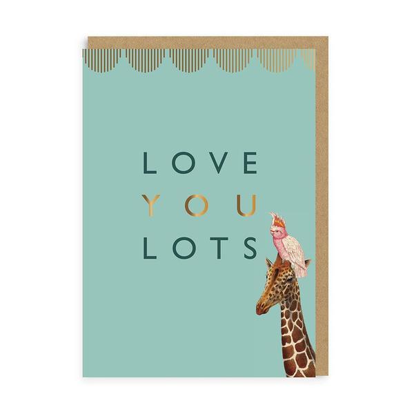 Love You Lots Giraffe Greeting Card