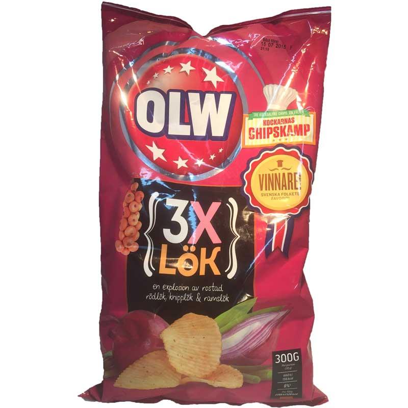 chips 3*Lök 300g - 34% rabatt