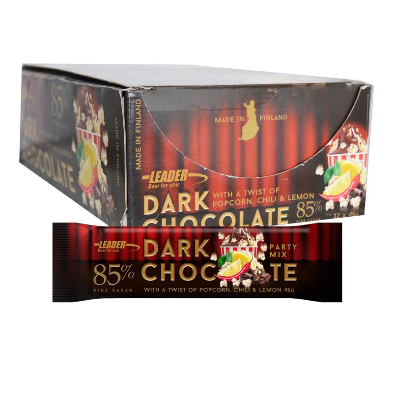 """Hel Låda Chokladbitar """"Dark Chocolate"""" 32 x 45g - 77% rabatt"""