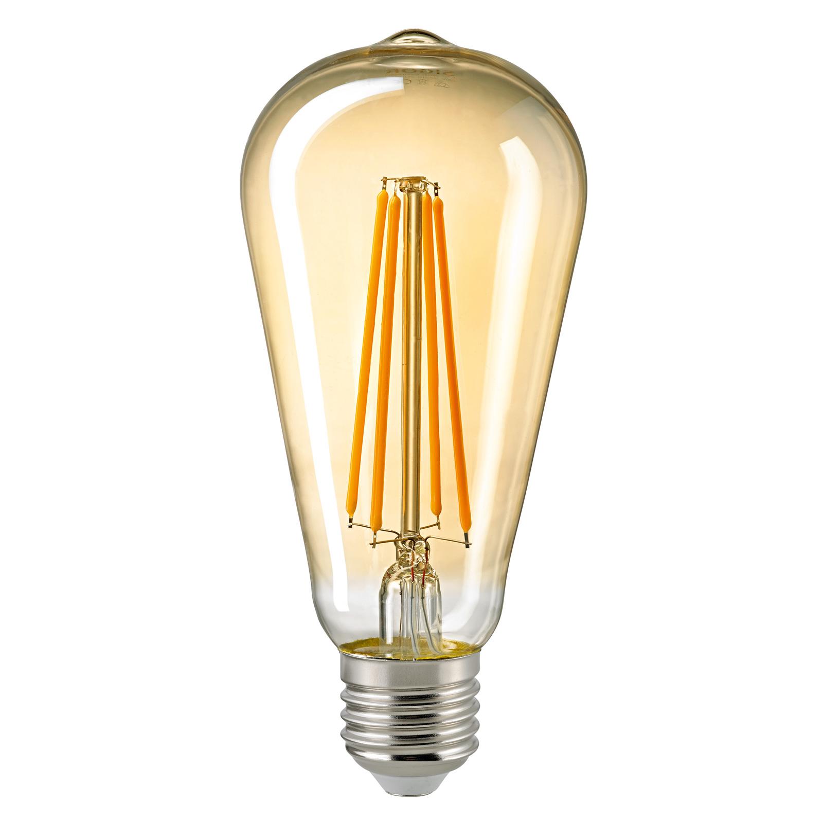 LED-lamppu E27 ST64 4,5W Filament Rustika gold