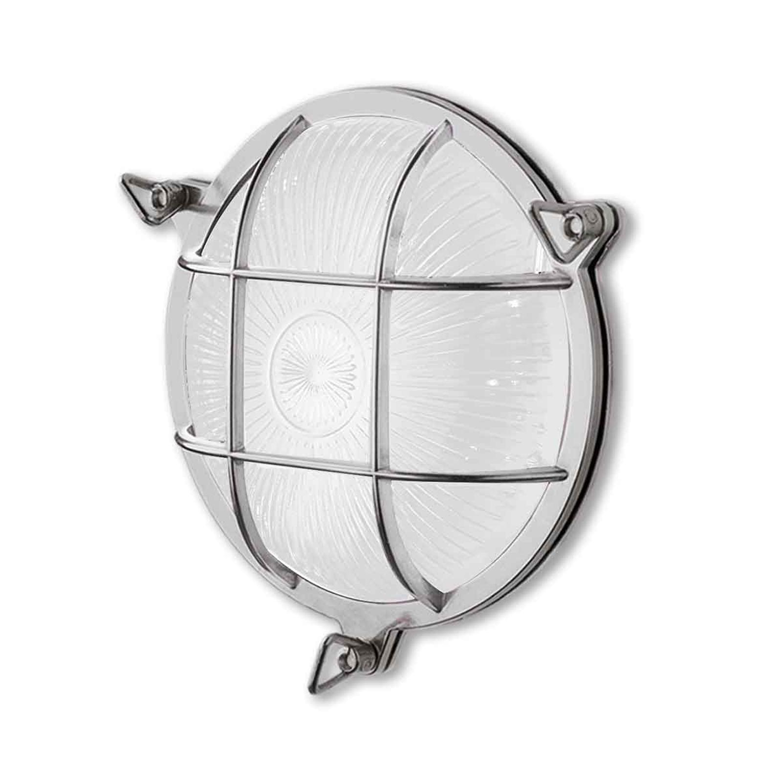 Seinälamppu Tortuga 200.20, pyöreä, nikkeli/opaali