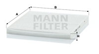 Raitisilmasuodatin MANN-FILTER CU 2435