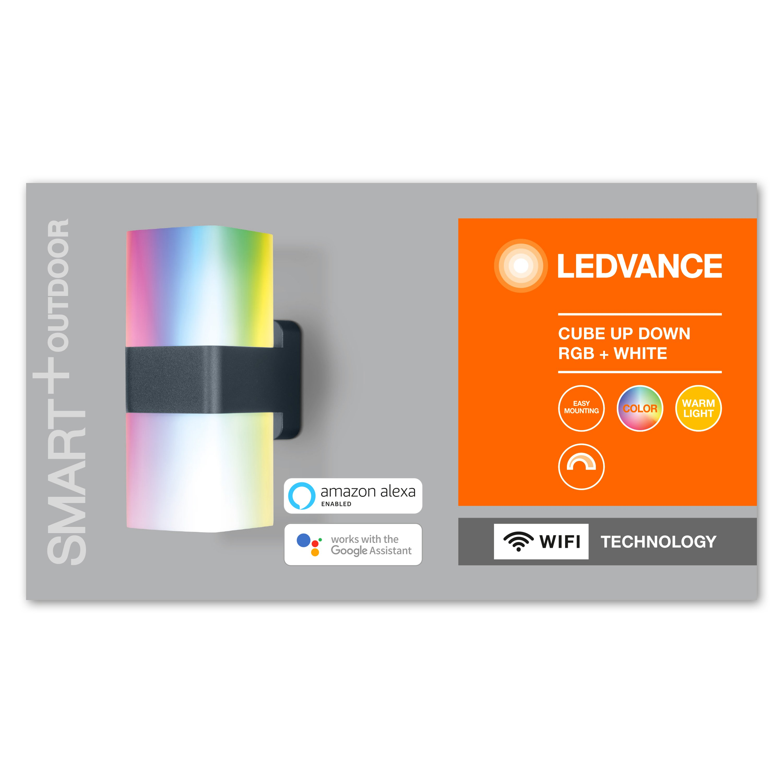 Ledvance - Smart+ Outdoor Cube UpDown RGBW Wall Light
