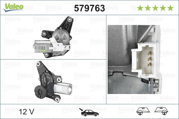 Pyyhkijän moottori VALEO 579763
