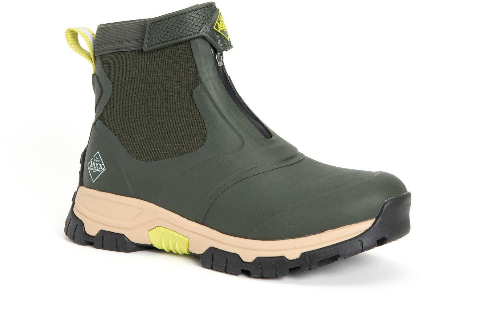 Muck Boots Unisex Apex Mid Zip Boot Various Colours 30981 - Moss/Tan Midsole 6