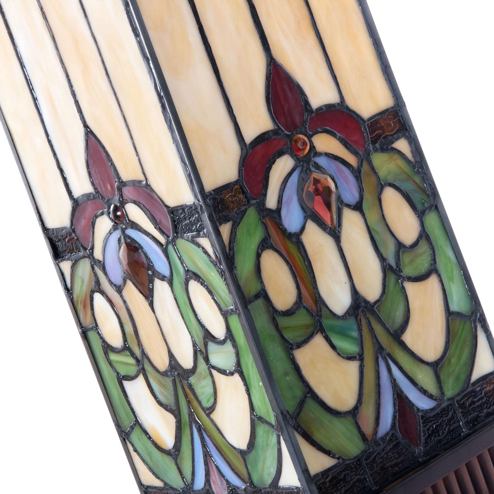 Pöytävalaisin 5907 värikkäällä tiffany-lasilla