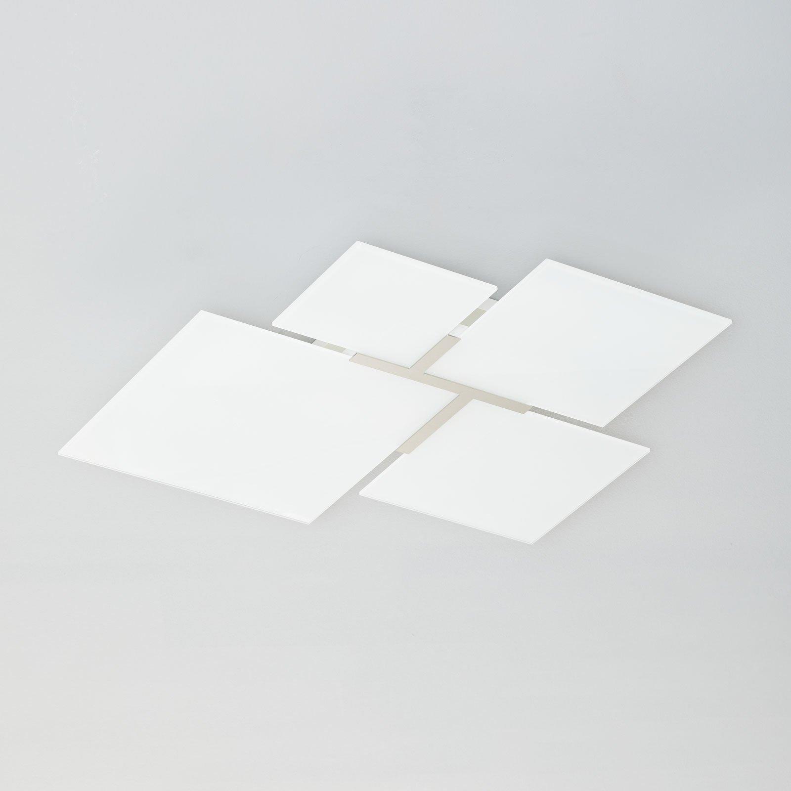 Taklampe Quadrifoglio 8050, stål, 61 cm