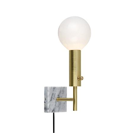Marble Square Vägglampa Mässing