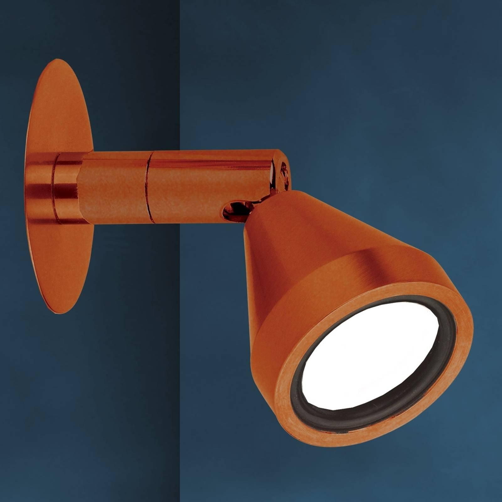 Bronsefarget MINI LED-vegglampe med antikk finish
