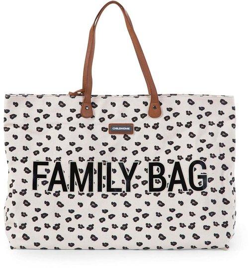 Childhome Family Bag Stelleveske Canvas Leopard, Ecru