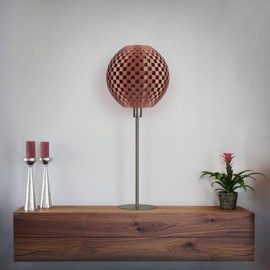 Bordlampe Flechtwerk Kugel, kobber