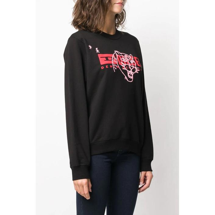 Diesel Women's T-Shirt Black 298723 - black 2XS