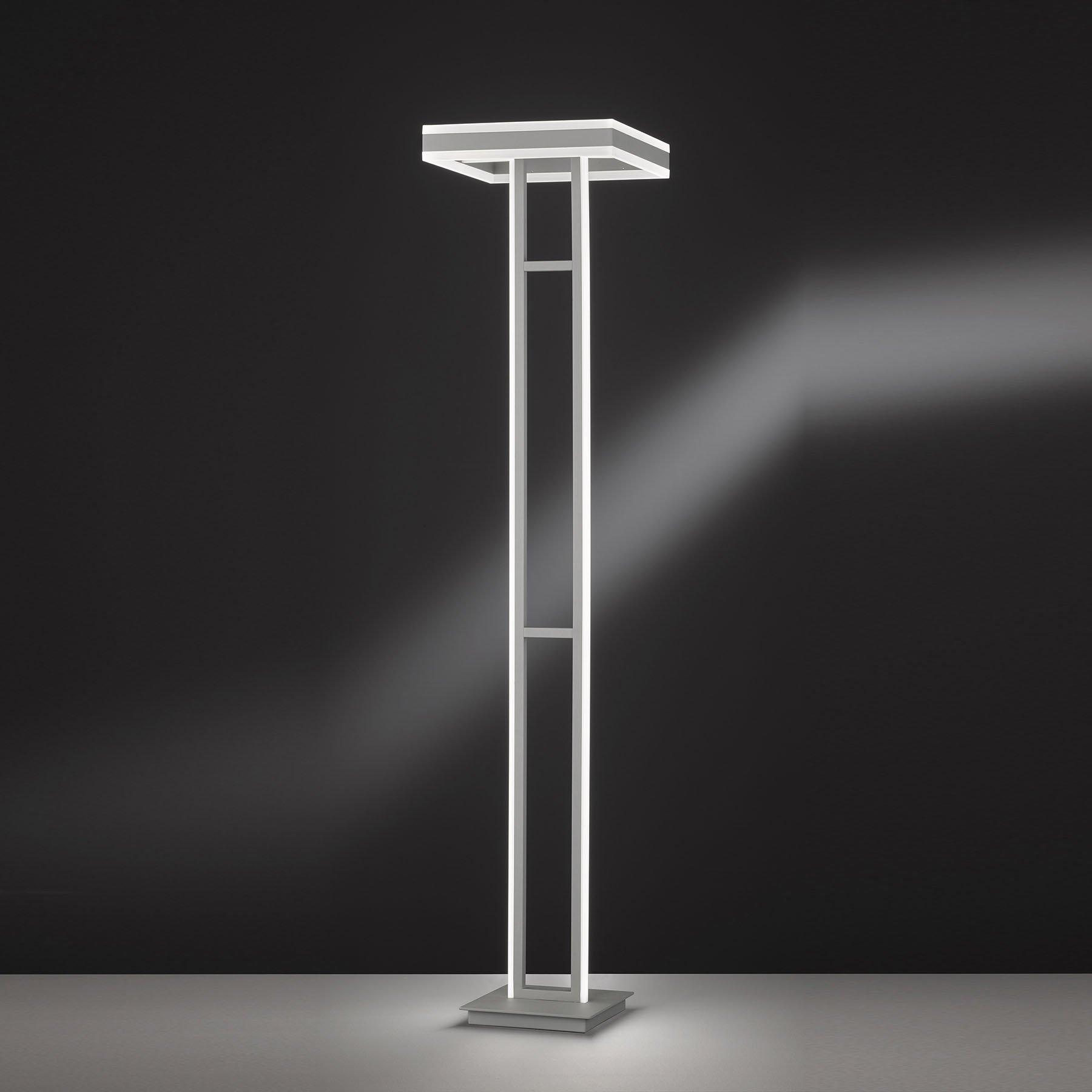 LED-gulvlampe Kemi med fjernkontroll, kantet