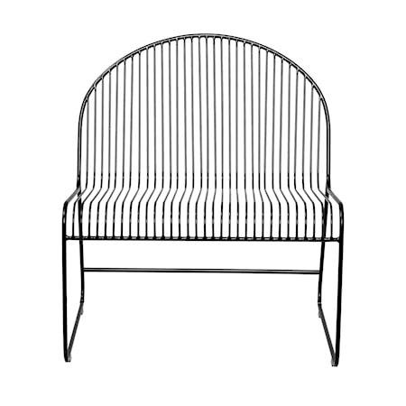 Friend Lounge Stol SvartMetall 72xH80x62,5 cm