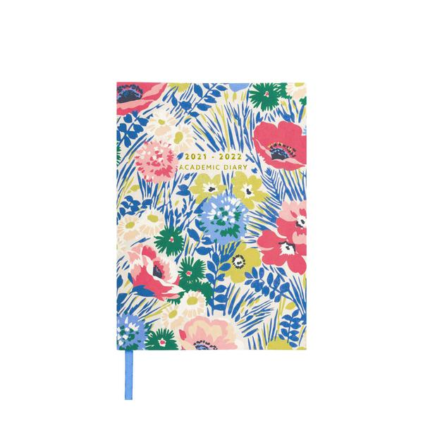 Blue Floral 2021-2022 Academic Diary