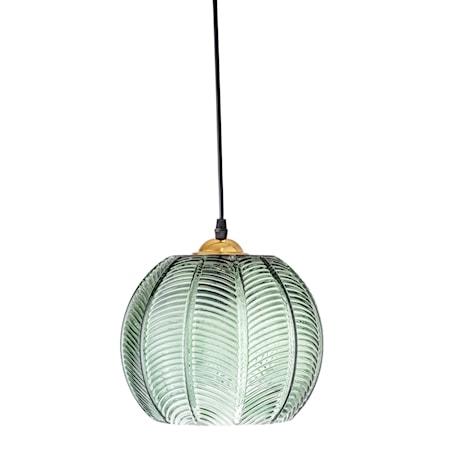 Taklampa Grön Glas Ø22xH20cm