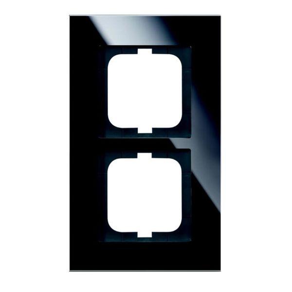 ABB 1722-825 Yhdistelmäkehys musta lasi 2-paikkainen