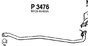 Pakoputki, Keskellä, MAZDA 6 Hatchback, 6 Sedan, 6 Station Wagon, L801-40-600, RFC5-40-600A