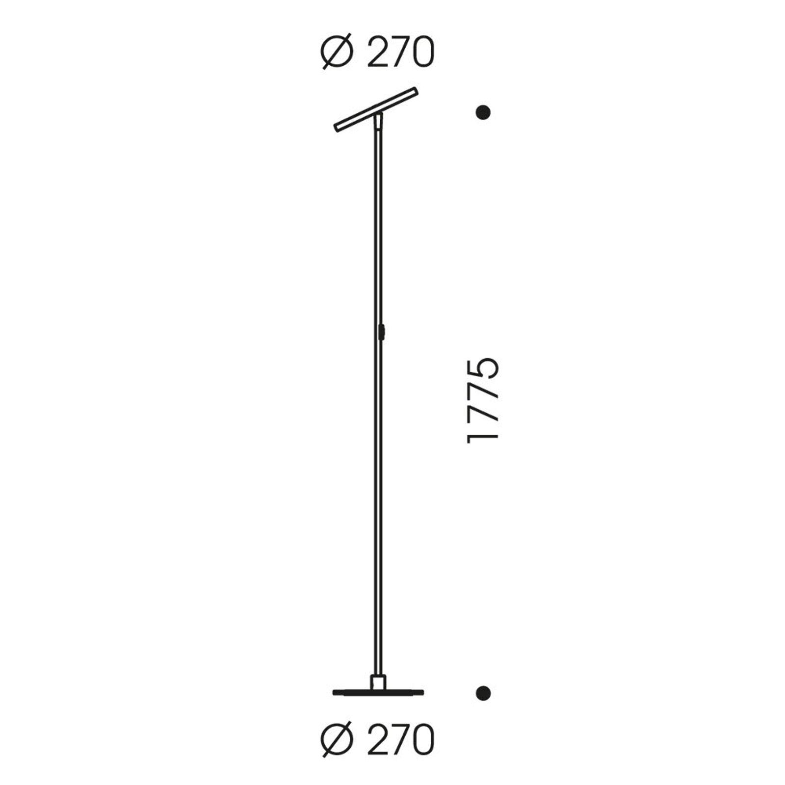 OLIGO Decent Max LED-gulvlampe, grå matt