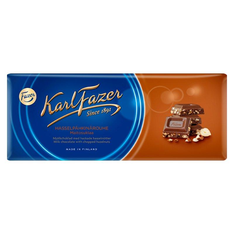 """Mjölkchoklad """"Hackade Hasselnötter"""" 200g - 28% rabatt"""